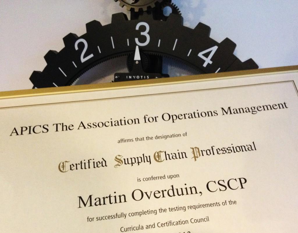 CSCP Certificering voor Martin Overduin