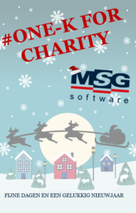 One K for charity MSG Kerst groet